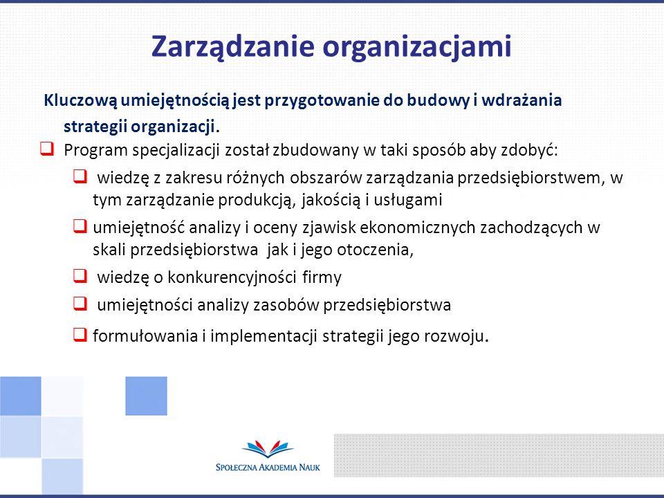 Kluczową umiejętnością jest przygotowanie do budowy i wdrażania strategii organizacji.