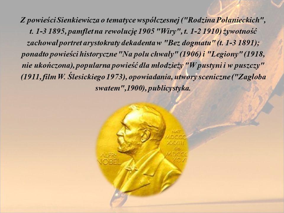 Z powieści Sienkiewicza o tematyce współczesnej ( Rodzina Połanieckich , t.