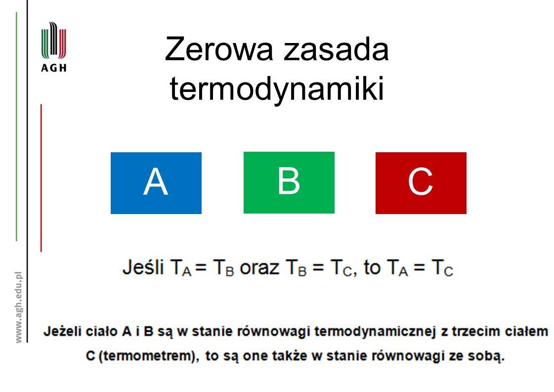 Zerowa zasada termodynamiki A B C