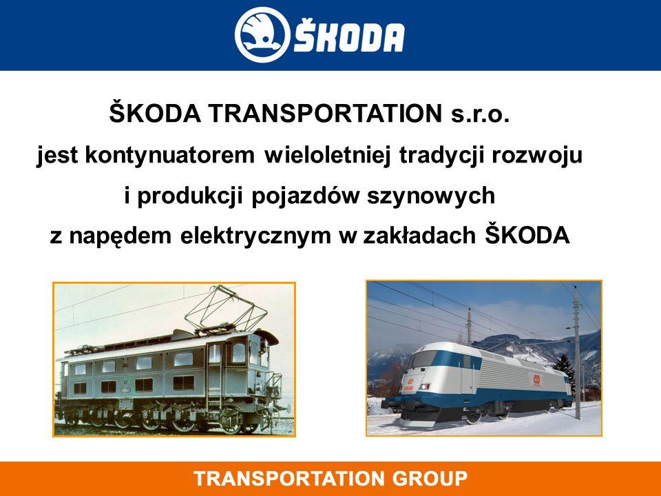 ŠKODA TRANSPORTATION s.r.o. jest kontynuatorem wieloletniej tradycji rozwoju i produkcji pojazdów szynowych z napędem elektrycznym w zakładach ŠKODA