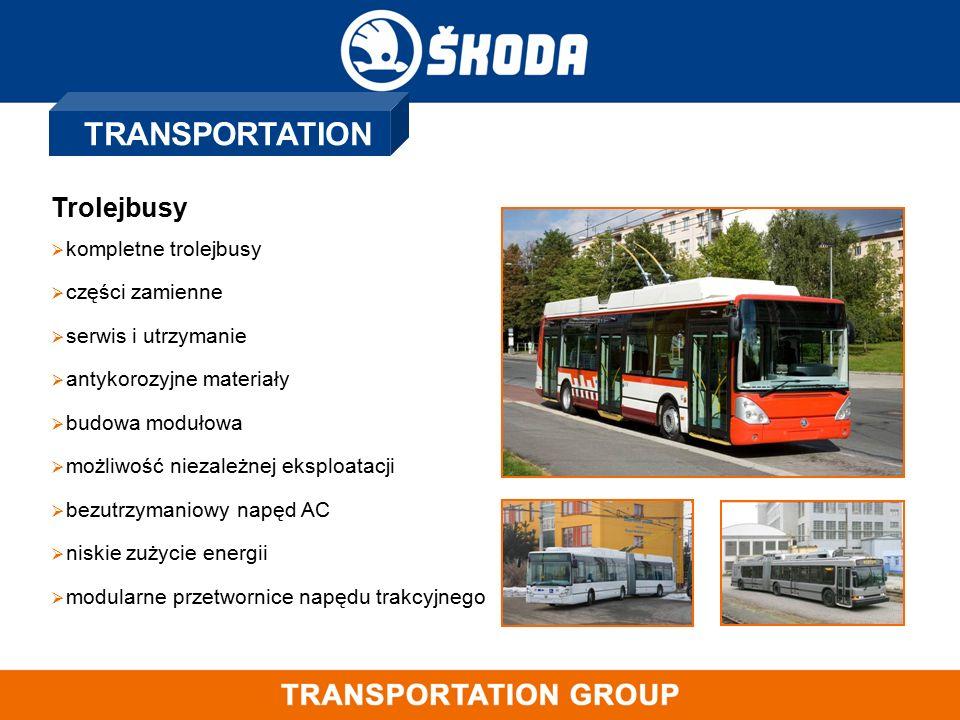 TRANSPORTATION Trolejbusy  kompletne trolejbusy  części zamienne  serwis i utrzymanie  antykorozyjne materiały  budowa modułowa  możliwość nieza