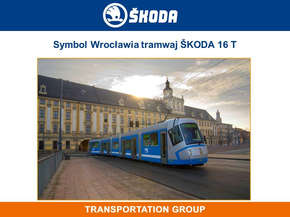 Symbol Wrocławia tramwaj ŠKODA 16 T