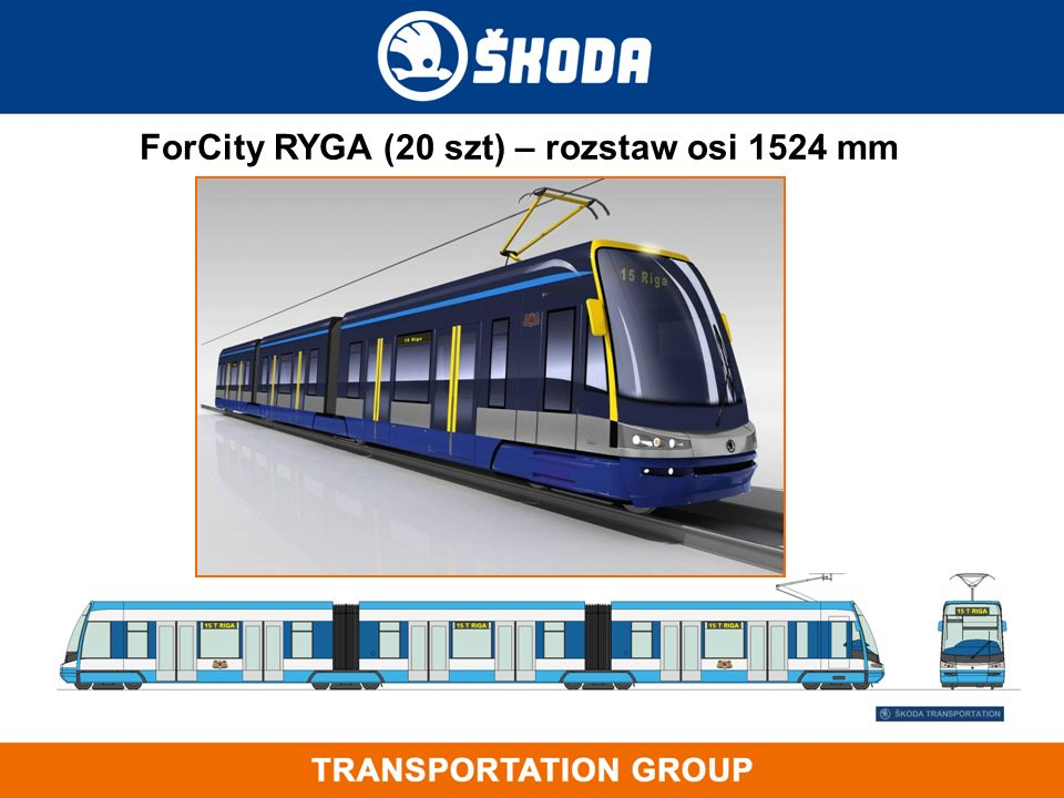 ForCity RYGA (20 szt) – rozstaw osi 1524 mm