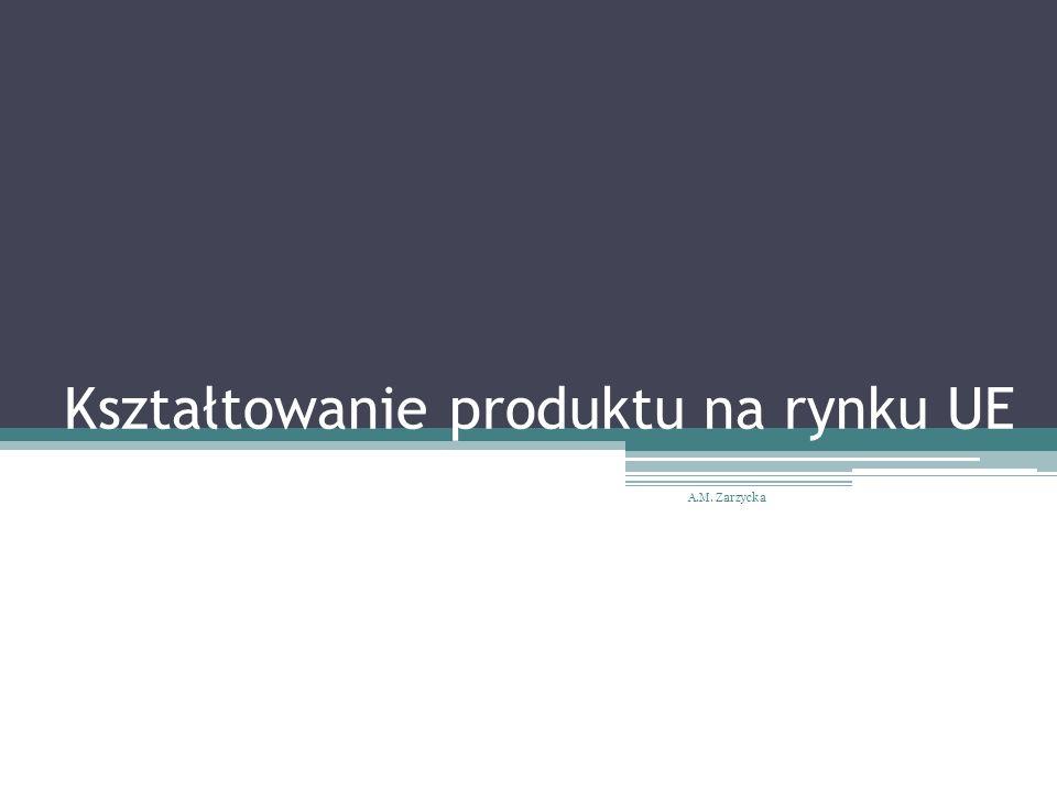 Kształtowanie produktu na rynku UE A.M. Zarzycka