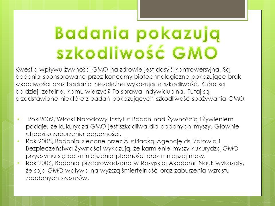 Kwestia wpływu żywności GMO na zdrowie jest dosyć kontrowersyjna.