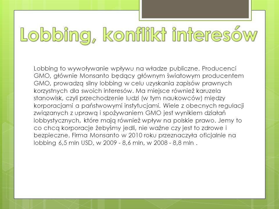 Lobbing to wywoływanie wpływu na władze publiczne.
