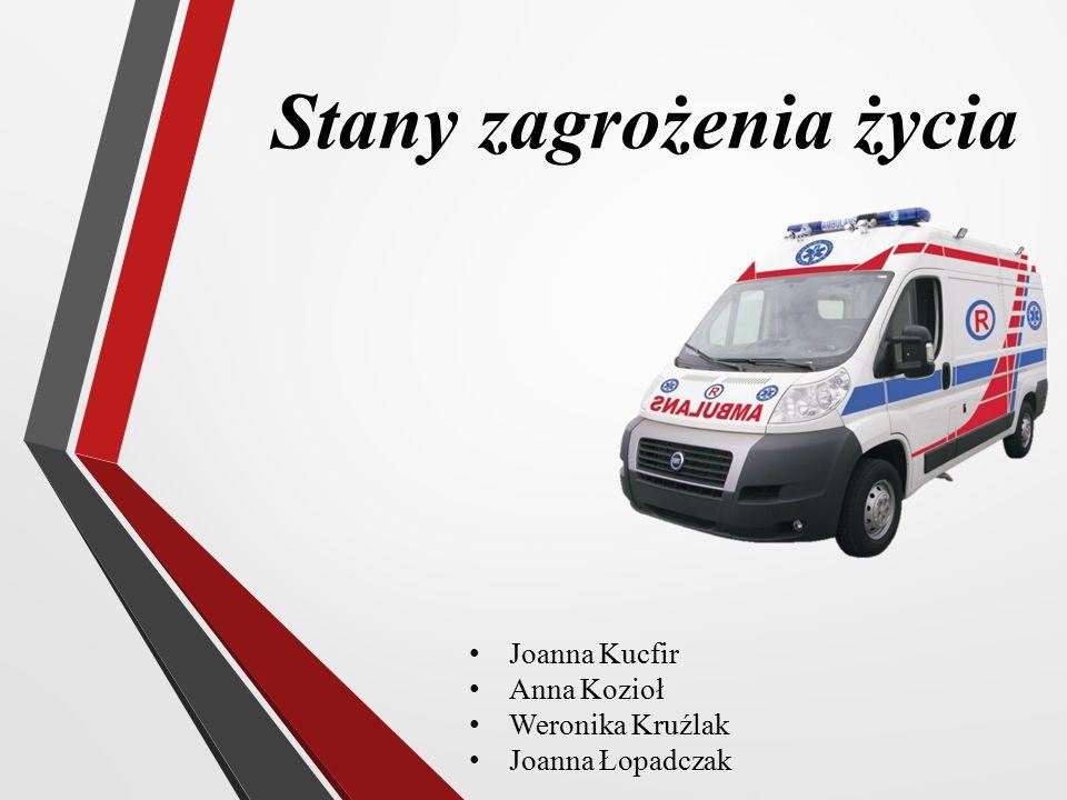 Stany zagrożenia życia Joanna Kucfir Anna Kozioł Weronika Kruźlak Joanna Łopadczak