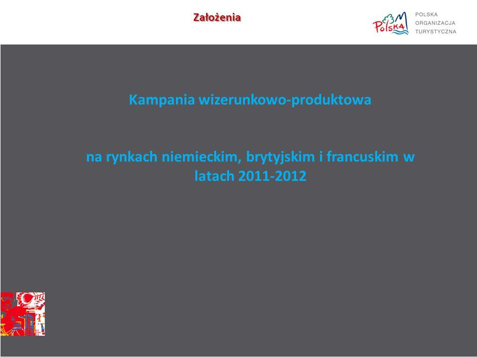 Kampania wizerunkowo-produktowa na rynkach niemieckim, brytyjskim i francuskim w latach 2011-2012 Założenia
