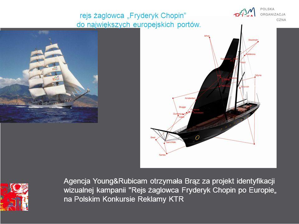 """rejs żaglowca """"Fryderyk Chopin do największych europejskich portów."""