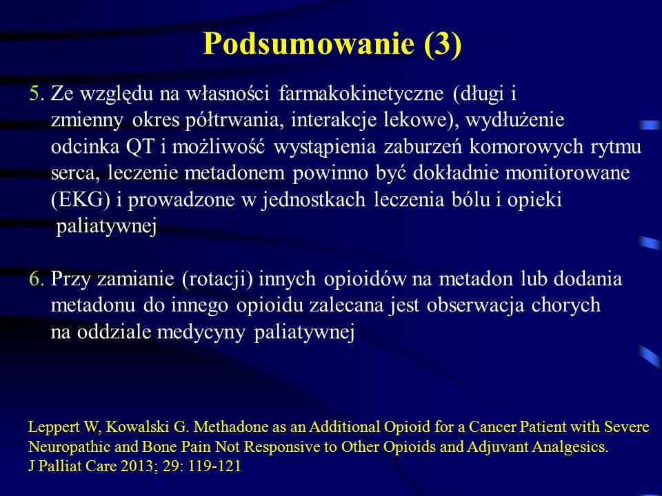 5. Ze względu na własności farmakokinetyczne (długi i zmienny okres półtrwania, interakcje lekowe), wydłużenie odcinka QT i możliwość wystąpienia zabu