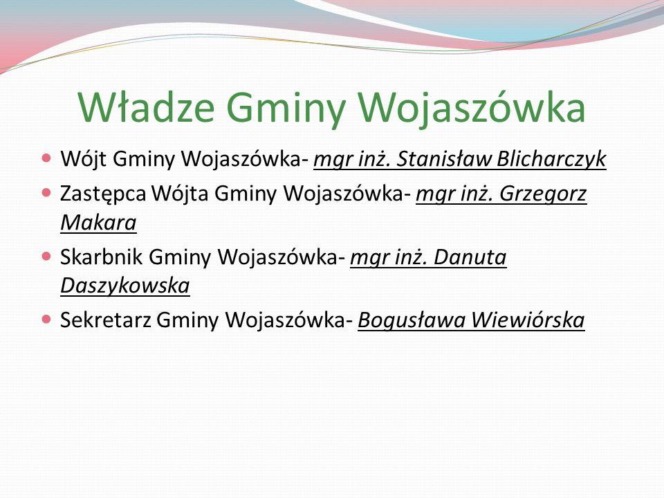 Władze Gminy Wojaszówka Wójt Gminy Wojaszówka- mgr inż.