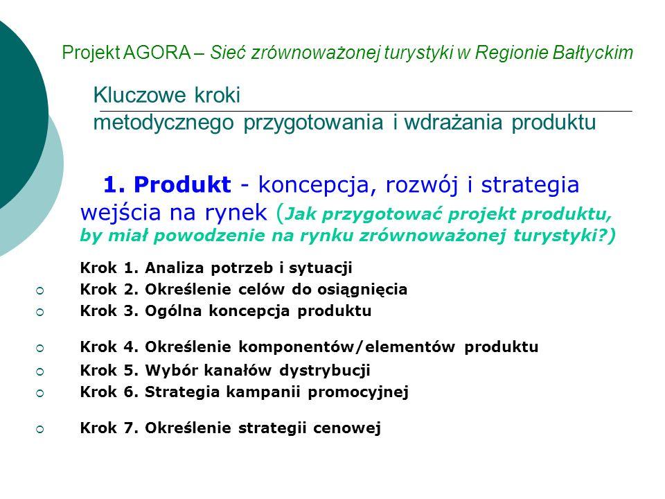 1. Produkt - koncepcja, rozwój i strategia wejścia na rynek ( Jak przygotować projekt produktu, by miał powodzenie na rynku zrównoważonej turystyki?)