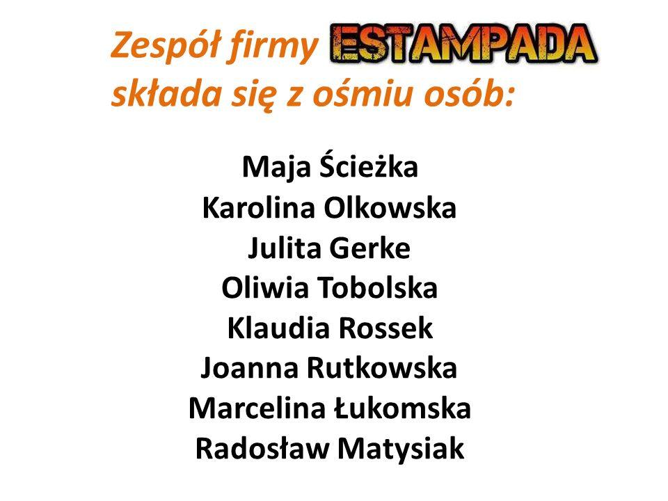 Dyrekcja firmy Dyrektor naczelny :Klaudia Rossek Dyrektor działu marketingu: Karolina Olkowska Dyrektor działu finansów: Julita Gerke