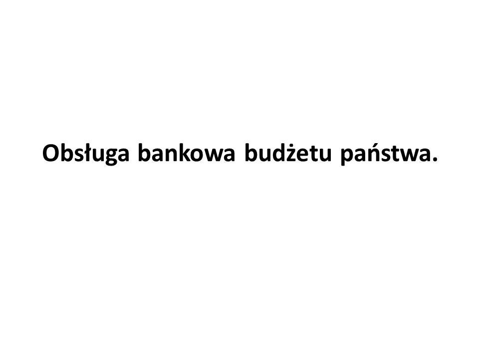 Obsługa bankowa budżetu państwa.