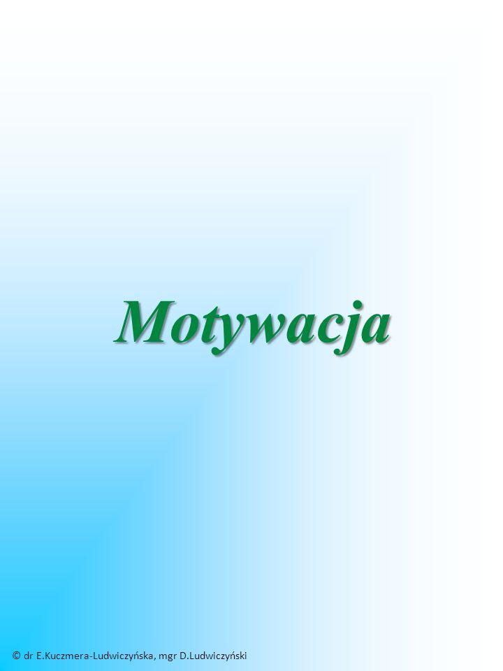 Motywacja © dr E.Kuczmera-Ludwiczyńska, mgr D.Ludwiczyński