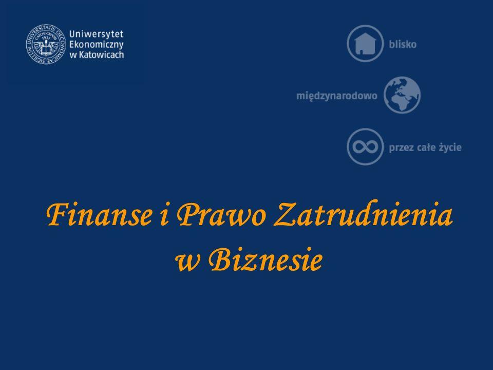 Finanse i Prawo Zatrudnienia w Biznesie