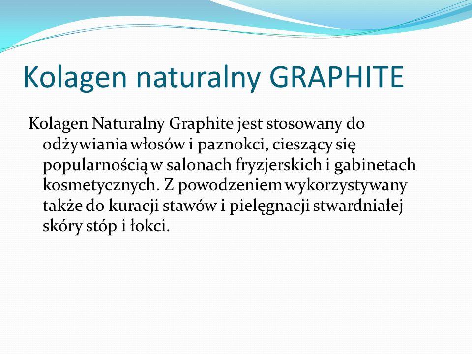 Kolagen naturalny GRAPHITE Kolagen Naturalny Graphite jest stosowany do odżywiania włosów i paznokci, cieszący się popularnością w salonach fryzjerskich i gabinetach kosmetycznych.