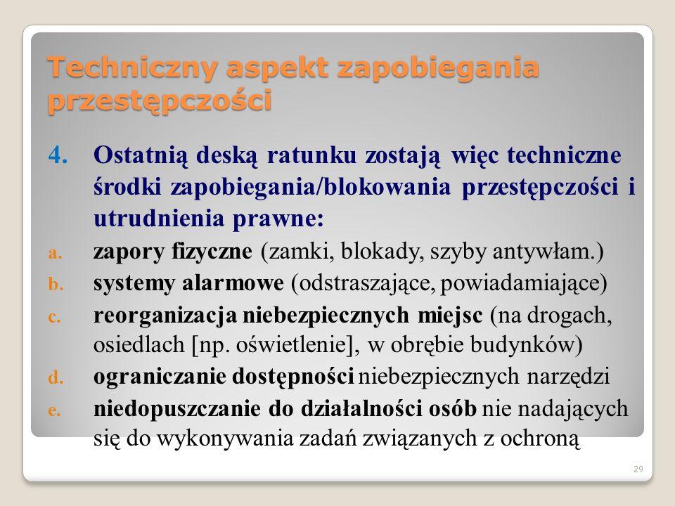 28 Techniczny aspekt zapobiegania przestępczości 3.