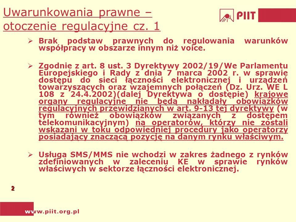 2 Uwarunkowania prawne – otoczenie regulacyjne cz.