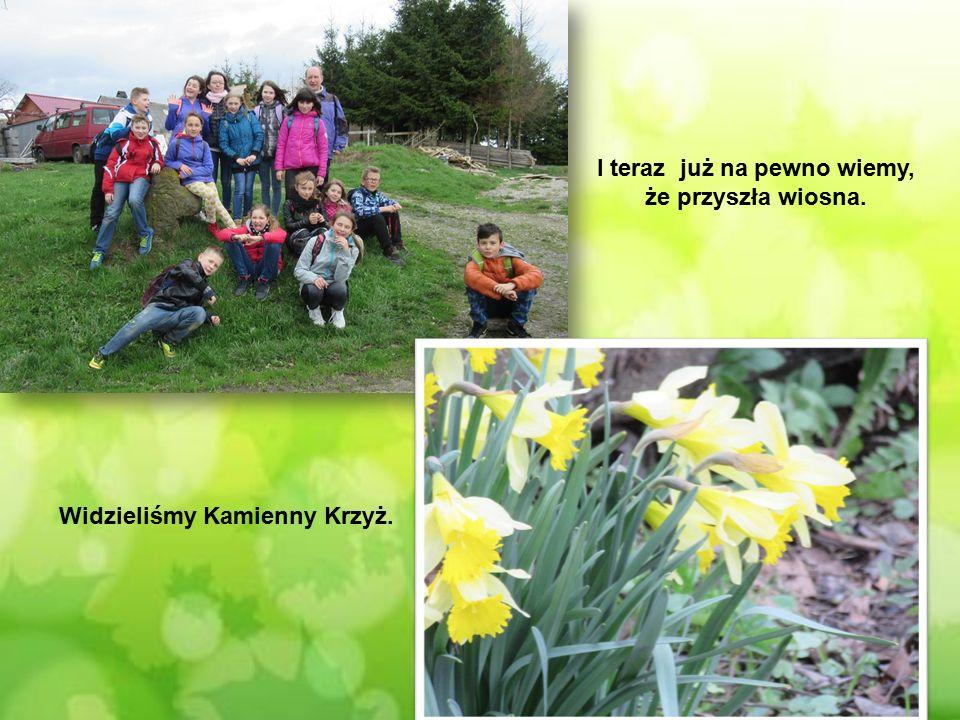 Widzieliśmy Kamienny Krzyż. I teraz już na pewno wiemy, że przyszła wiosna.