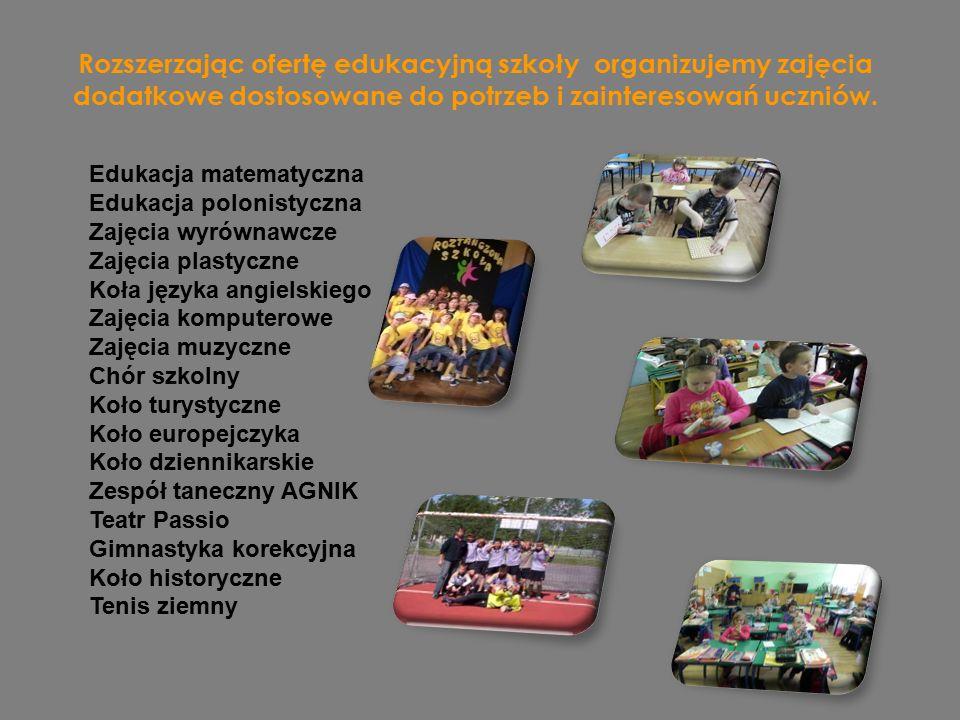 Rozszerzając ofertę edukacyjną szkoły organizujemy zajęcia dodatkowe dostosowane do potrzeb i zainteresowań uczniów.