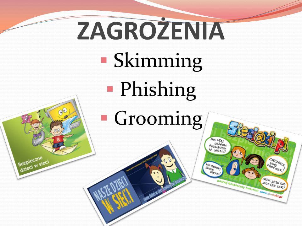 ZAGROŻENIA  Skimming  Phishing  Grooming