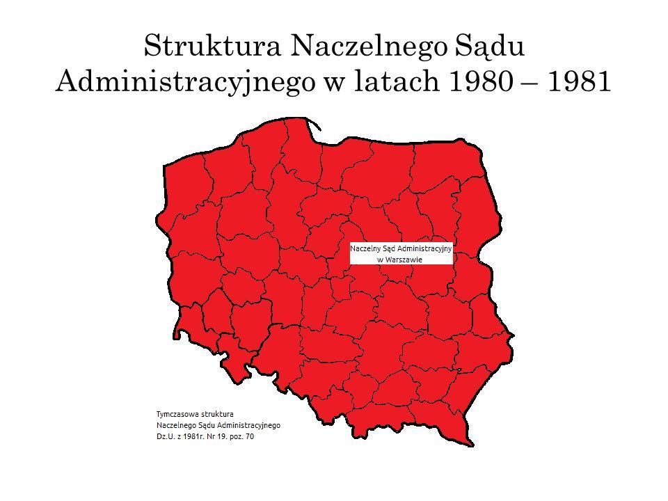 Struktura Naczelnego Sądu Administracyjnego w latach 1980 – 1981