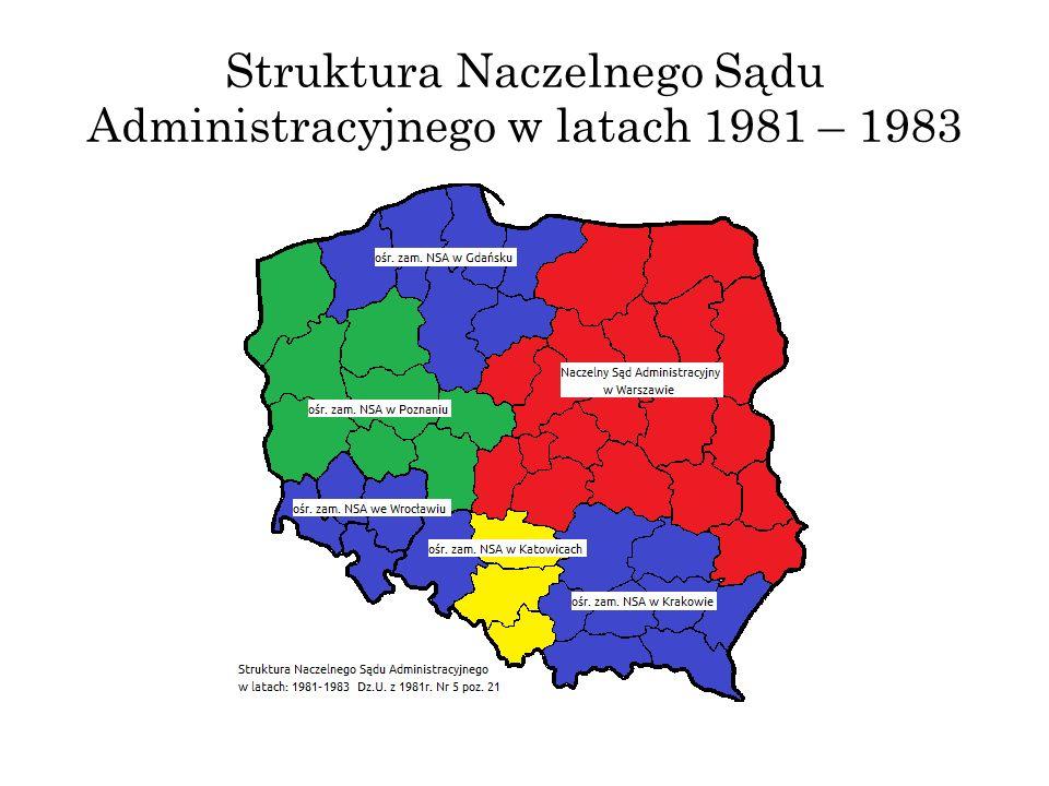 Struktura Naczelnego Sądu Administracyjnego w latach 1981 – 1983