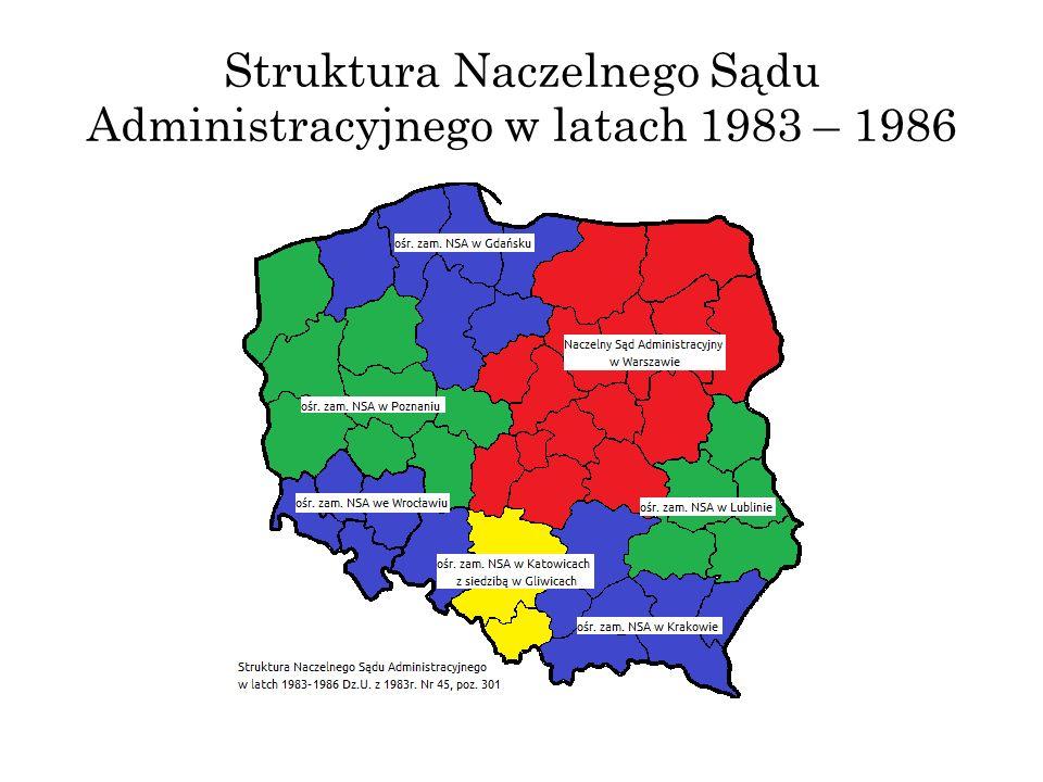 Struktura Naczelnego Sądu Administracyjnego w latach 1983 – 1986