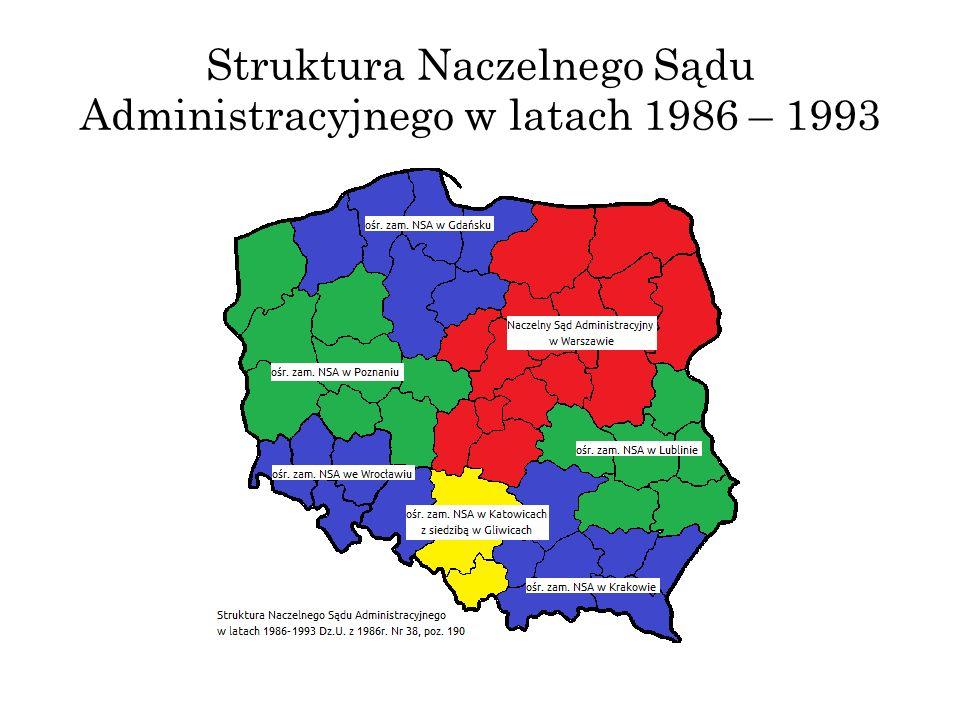 Struktura Naczelnego Sądu Administracyjnego w latach 1986 – 1993