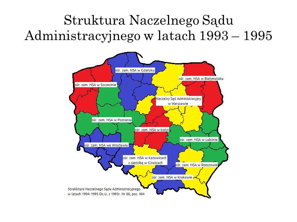Struktura Naczelnego Sądu Administracyjnego w latach 1993 – 1995
