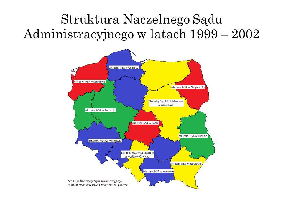 Struktura Naczelnego Sądu Administracyjnego w latach 1999 – 2002