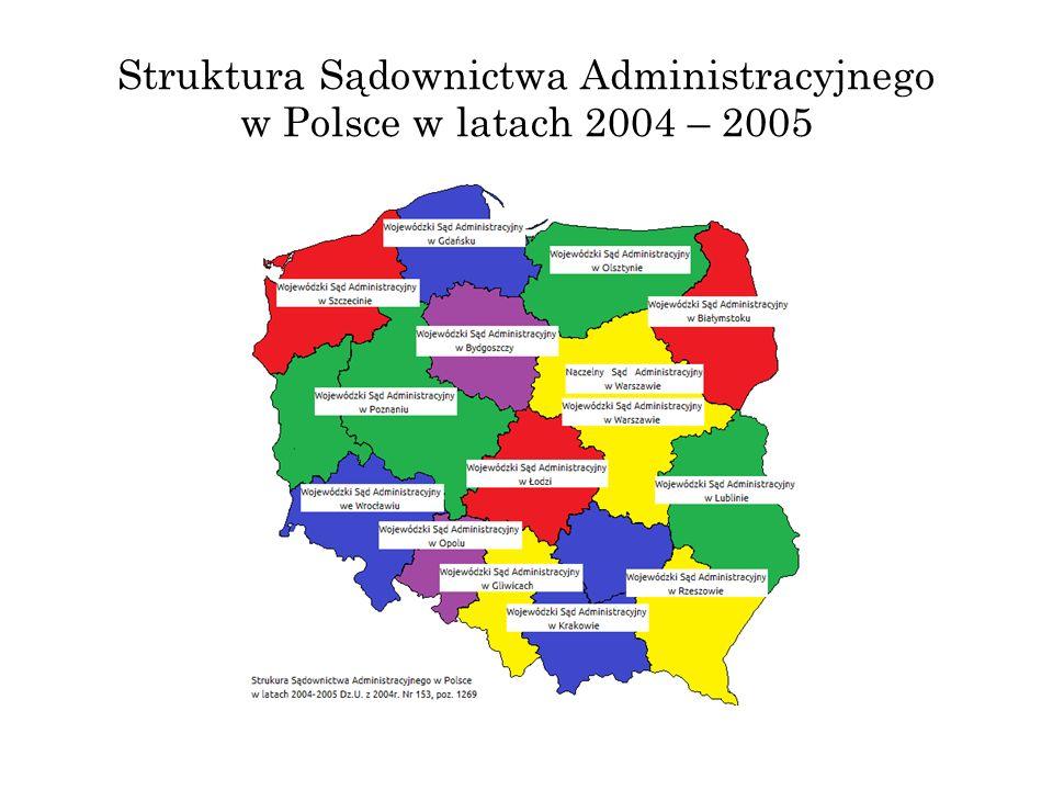 Struktura Sądownictwa Administracyjnego w Polsce w latach 2004 – 2005