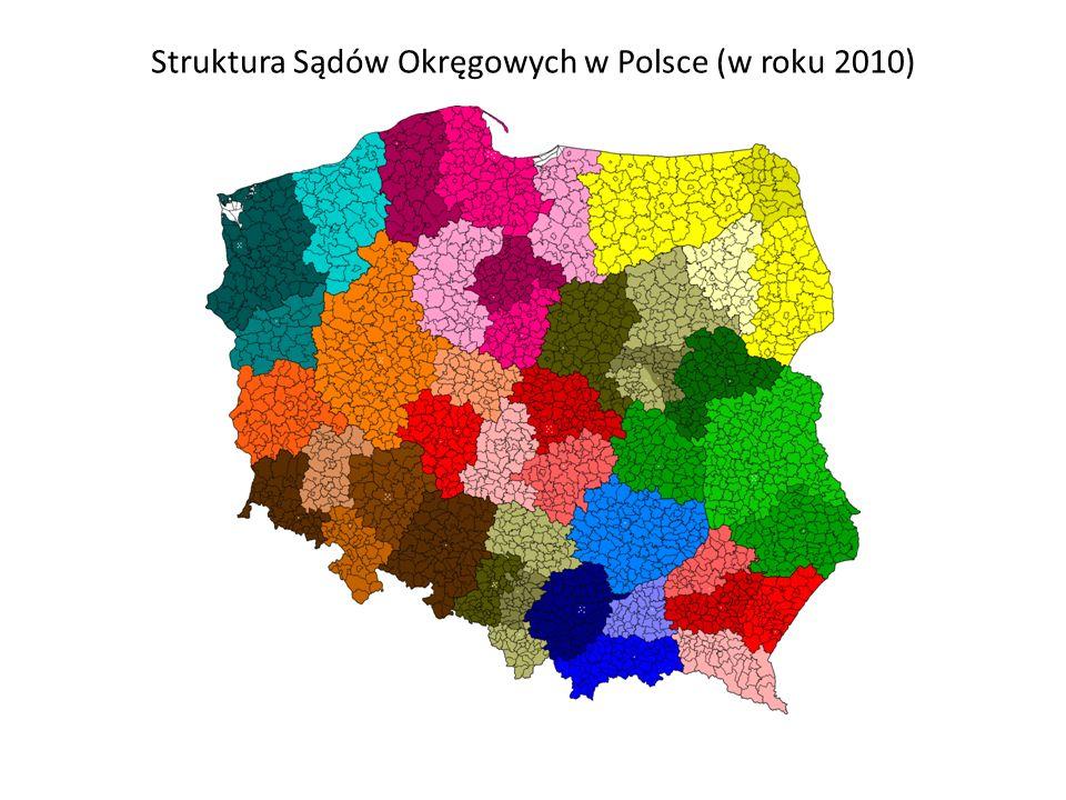 Struktura Sądów Okręgowych w Polsce (w roku 2010)