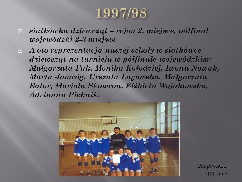  siatkówka dziewcząt – rejon 2.