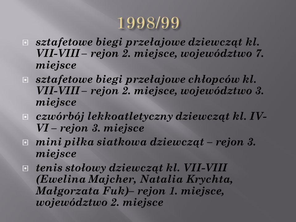  sztafetowe biegi przełajowe dziewcząt kl. VII-VIII – rejon 2.