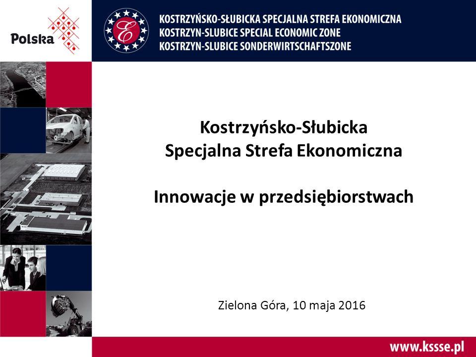 Kostrzyńsko-Słubicka Specjalna Strefa Ekonomiczna Innowacje w przedsiębiorstwach Zielona Góra, 10 maja 2016