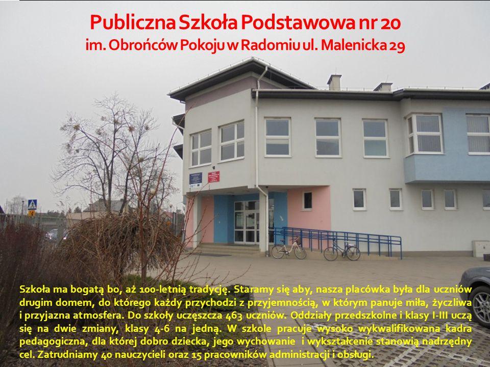 Publiczna Szkoła Podstawowa nr 20 im. Obrońców Pokoju w Radomiu ul.
