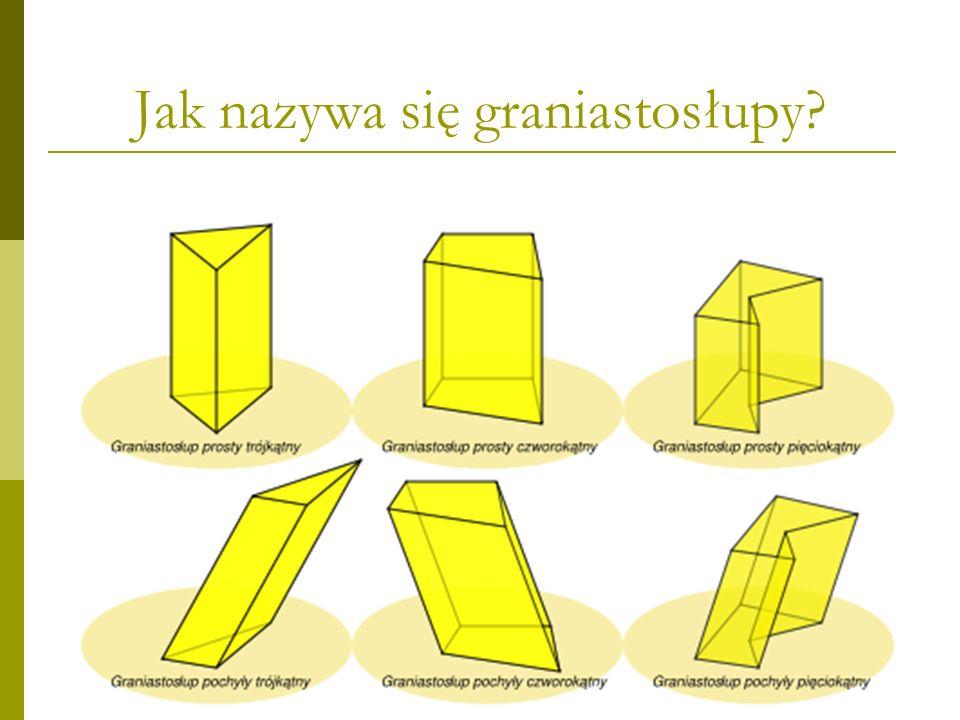 Jak nazywa się graniastosłupy?