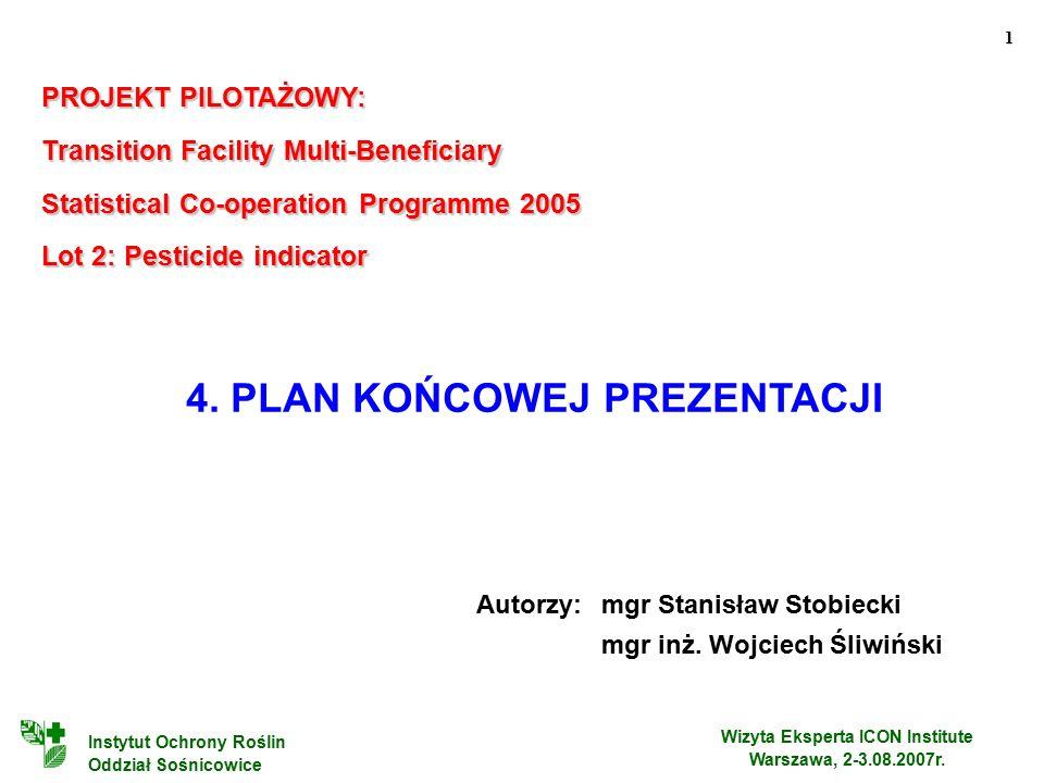 1 Wizyta Eksperta ICON Institute Warszawa, 2-3.08.2007r.