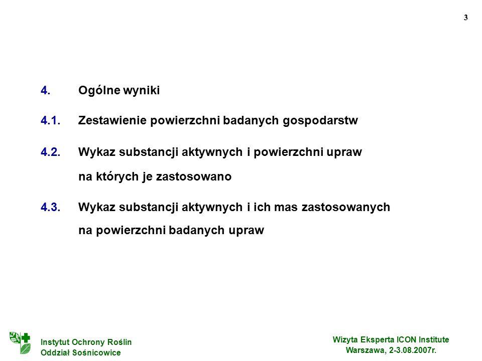 3 Wizyta Eksperta ICON Institute Warszawa, 2-3.08.2007r.