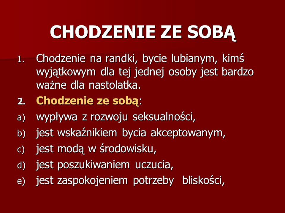 CHODZENIE ZE SOBĄ 1.