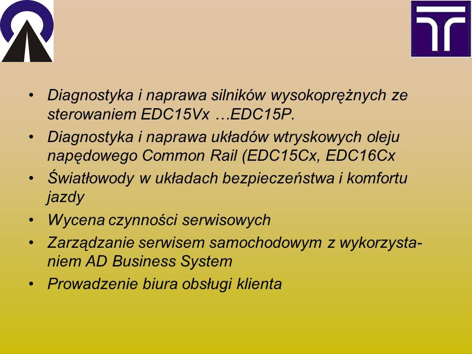 Diagnostyka i naprawa silników wysokoprężnych ze sterowaniem EDC15Vx …EDC15P.