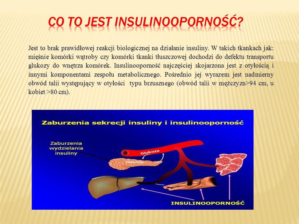 Jest to brak prawidłowej reakcji biologicznej na działanie insuliny.