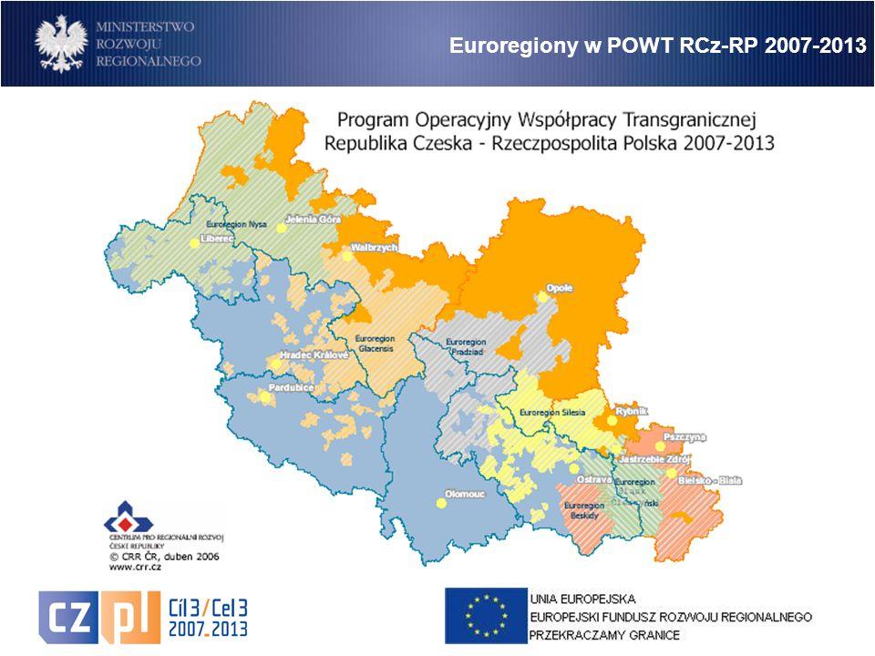 6 Euroregiony w POWT RCz-RP 2007-2013