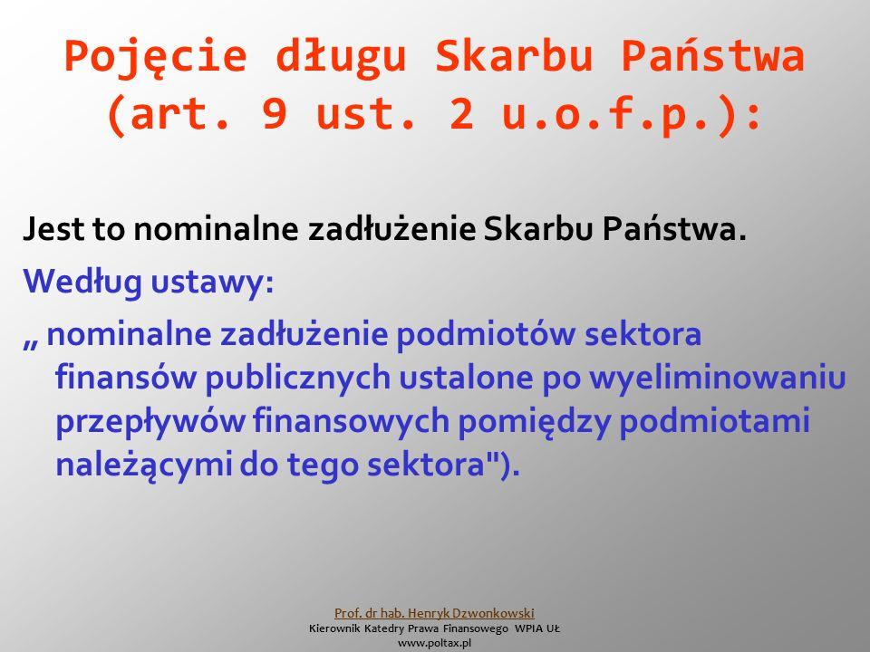 Pojęcie długu Skarbu Państwa (art. 9 ust.