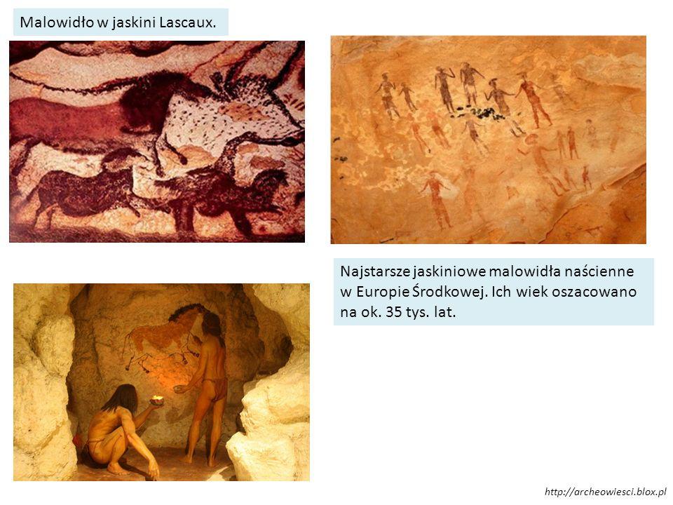 Malowidło w jaskini Lascaux. Najstarsze jaskiniowe malowidła naścienne w Europie Środkowej. Ich wiek oszacowano na ok. 35 tys. lat. http://archeowiesc