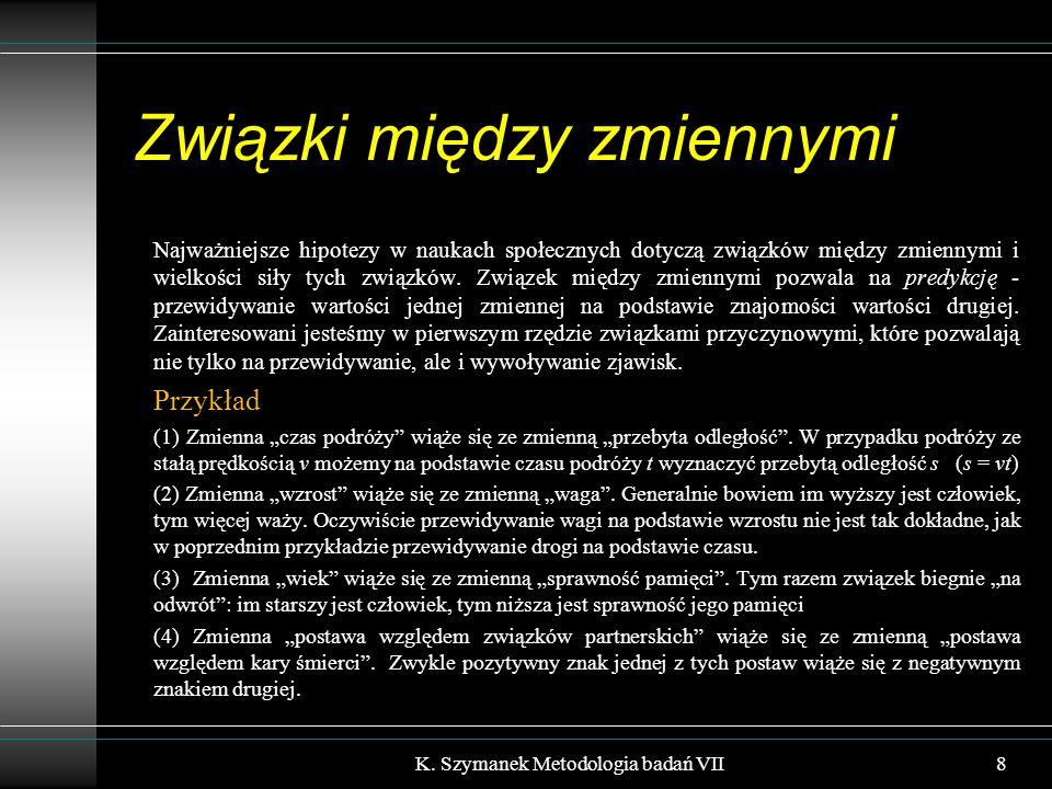 Schemat idealnego eksperymentu K. Szymanek Metodologia badań VII49
