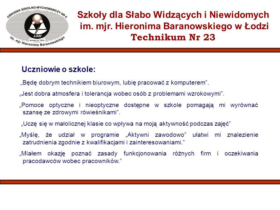 Szkoły dla Słabo Widzących i Niewidomych im.mjr.