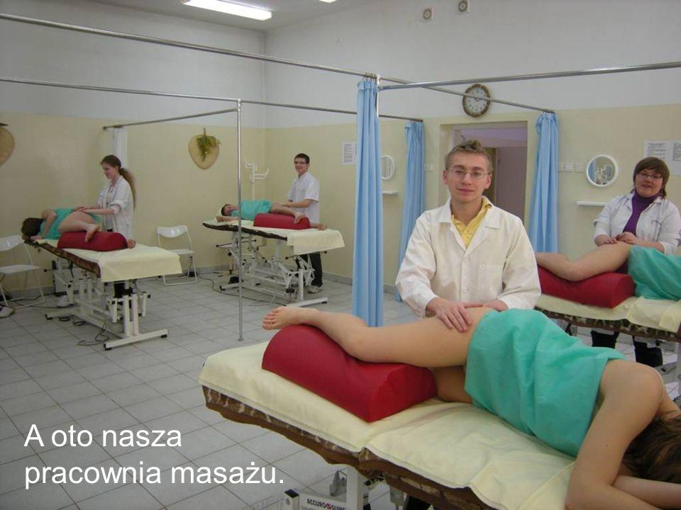 A oto nasza pracownia masażu.